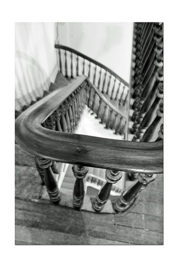 Stairway @ Meek Mansion 3 Cherryland, Ca. Historic Landmark Built 1869 William Meek Bnw_friday_eyeemchallenge 10 Acre Estate Originally 3000 Acres Architecture : Victorian Style: Second Empire, Italian Villa Orchards Crops : Cherry, Apricots, Plums, Almonds Mansion Has 3 Floors With A Cupola 7,902 Sq Ft. 23-27 Rooms Basement Gazebo Carriage House Black & White Black And White Interior Monochrome Black And White Collection  Best Of Stairways Black And White Photography