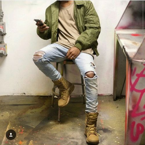Bomber Jacket Ripped Jeans Fashion Photography Model Fashion Aesthetics Street Fashion Urban Fashion Urbanstyle