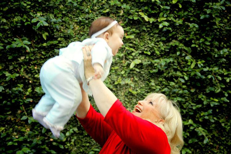 Grandma lifting
