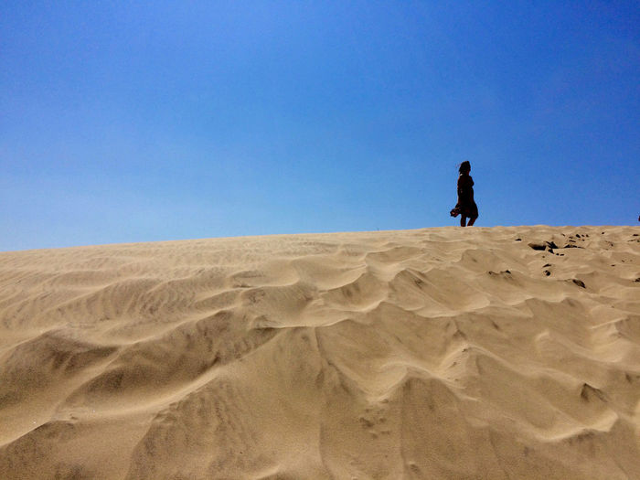 Dune with woman