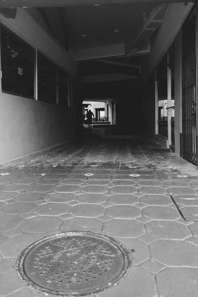 Walk 😊 Architecture Day Travel People Blackandwhite Sad Corridor Alone Built Structure Indoors  Outdoors Room Shadow Shadows & Lights No People First Eyeem Photo Mobilephotography Smartphonephotography Movil