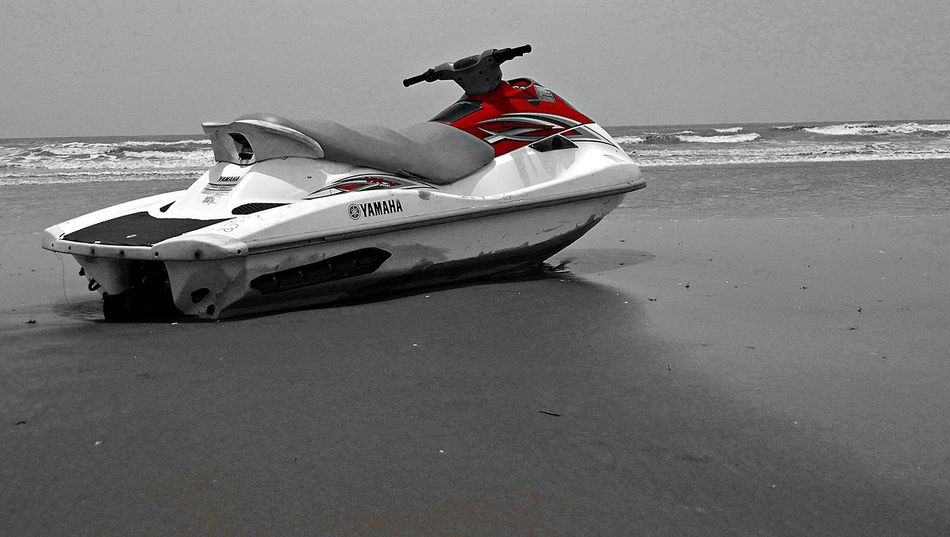 READY TO GO beside Bay Of Bengal - Mandarmani Sea Beach (West Bengal, India). Balance Beach Black And White Photography Boat Day Desert FootPrint Fun Hobbies Mandarmani Mode Of Transport Moored Nautical Vessel Objects Occupation Outdoors Ready To Go Ready To Go! Recreational Pursuit Sand Sand Dune Side View Transportation Travel Water