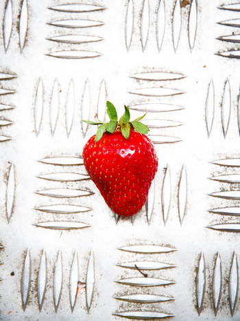 Bright Background Berry Fruit Close-up Day Food Food And Drink Freshness Fruit Healthy Eating Indoors  Metal - Material Nature No People Red Strawberry Wall - Building Feature Wellbeing