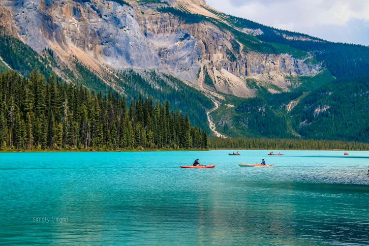 Mountain Blue Beauty In Nature Nature Scenics Tree Outdoors Water Lake Adventure Sky Forest Yoho National Park