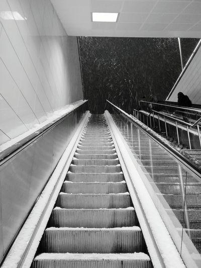 Stairs Snow Metro