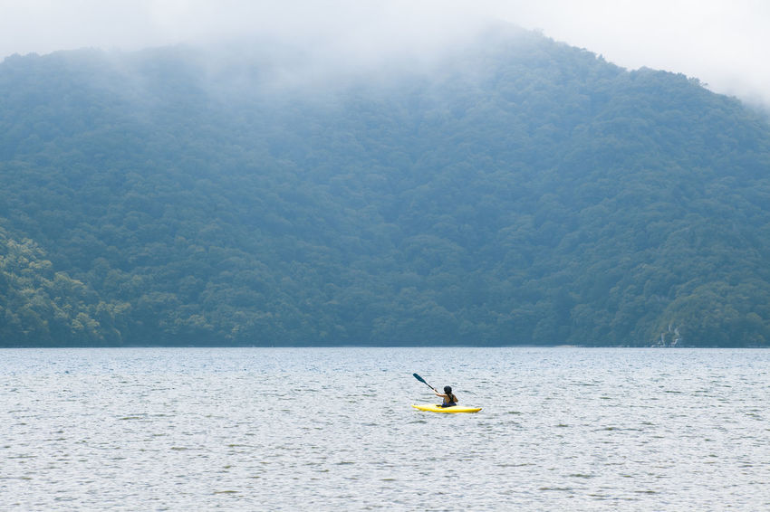 Adventure Beauty In Nature Chuzenji-Lake Day Japan Journey Kayaking Kayaking In Nature Leisure Activity Lifestyles Mode Of Transport Mountain Nature Nautical Vessel Outdoors Scenics Sky Tourism Tranquil Scene Tranquility Vacations Water