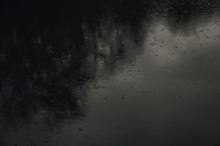 Full frame shot of raindrops on wall