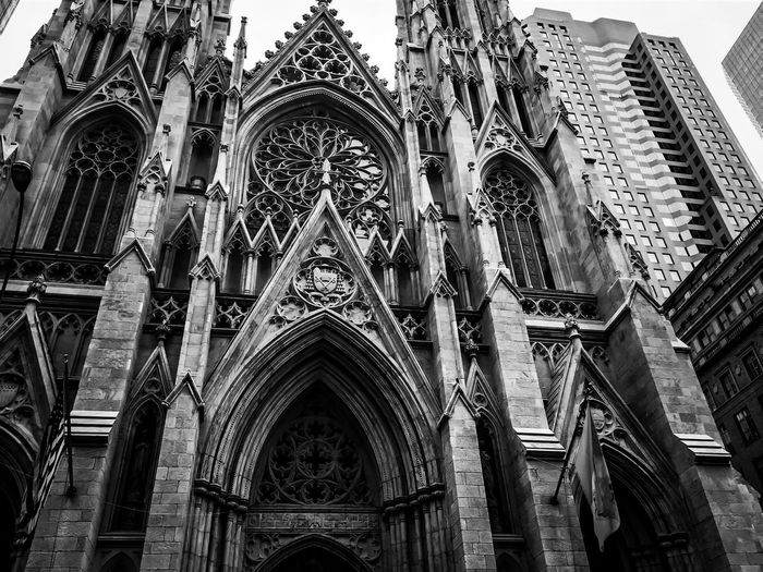 Low angle view of st patrick cathedral