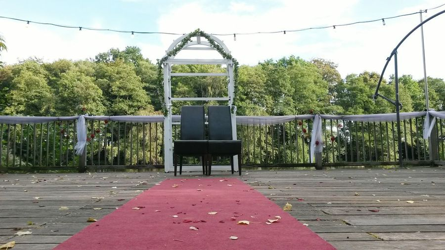 Wedding Wedding Day Wedding Ceremony Weddingday  Marriage  Marriage Ceremony Married Just Married Promise Chairs Love Romance Romantic Romantic Place Romantic Location Romantic Scenery Magic Moments Wedding Arch Arch Nuptials Wedlock Union Two Is Better Than One Pier The Magic Mission