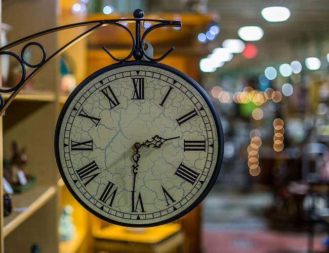 Antique Clock Accuracy Bokeh Circle Clock Close-up Communication Depth Of Field Hanging Indoors  Information No People Number Old-fashioned Round Selective Focus Sign Single Object Still Life Studio Shot Symbol Time Wall