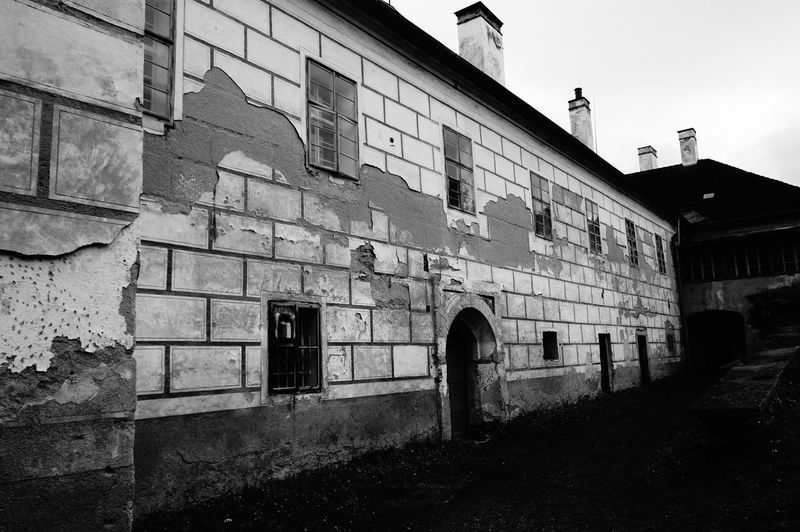 Castle Communism Czech Republic Damaged Architecture Ruins Blackandwhite Blackandwhite Photography Czechoslovakia Despair Desperate Sickle And Hammer