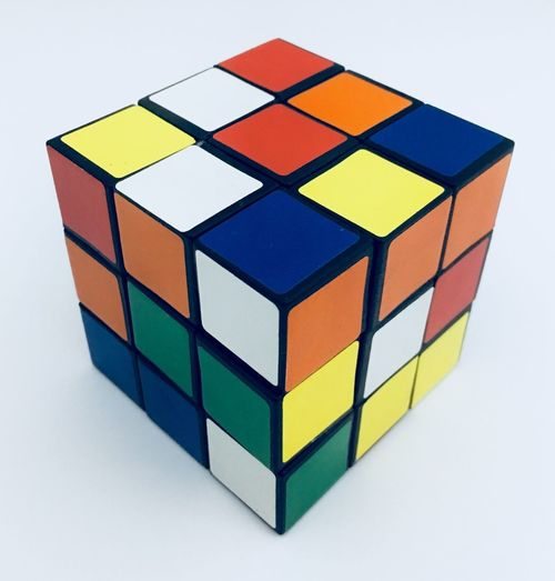 Rubrik Cubo Mágico Cube Rubrik Brinquedo Toy Multi Colored Geometric Shape Shape White Background Puzzle  Studio Shot Toy Block Square Shape Indoors  Leisure Games Color Swatch Strategy Close-up Neat No People Geometry Chess Board Day