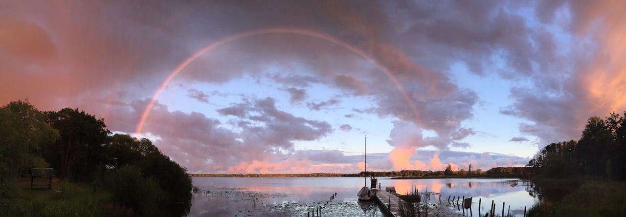 catch that Rainbow Rainbow Colors Lake Neuendorf Colour Of Life Clouds And Sky