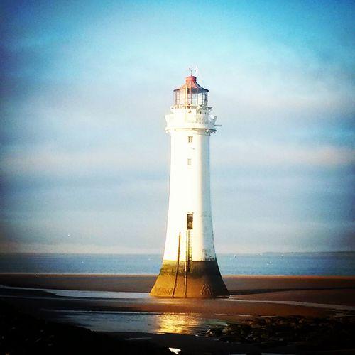 Vintage Look Lighthouse Lighthouse_lovers Newbrighton Newbrightonbeach Wirral Wirral Peninsula Rivermersey Merseyside