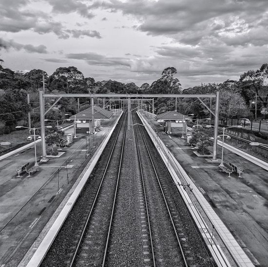 Railroad Track Cloud - Sky Sky Day Outdoors Rail Transportation Sydney Landscape EyeEm Best Edits Australia POTD Australiagram Mobilephotography
