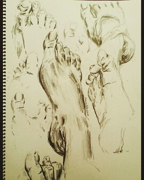 Feet Art Sketch Sketchbook Sketching Foot Pencil Pencil Drawing Charcoal Paper Mariana First Eyeem Photo