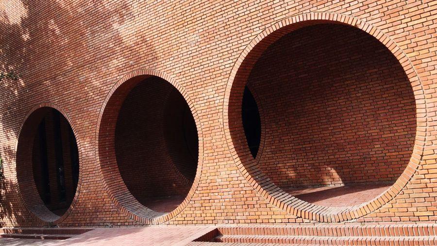 Close-up view of brick wall
