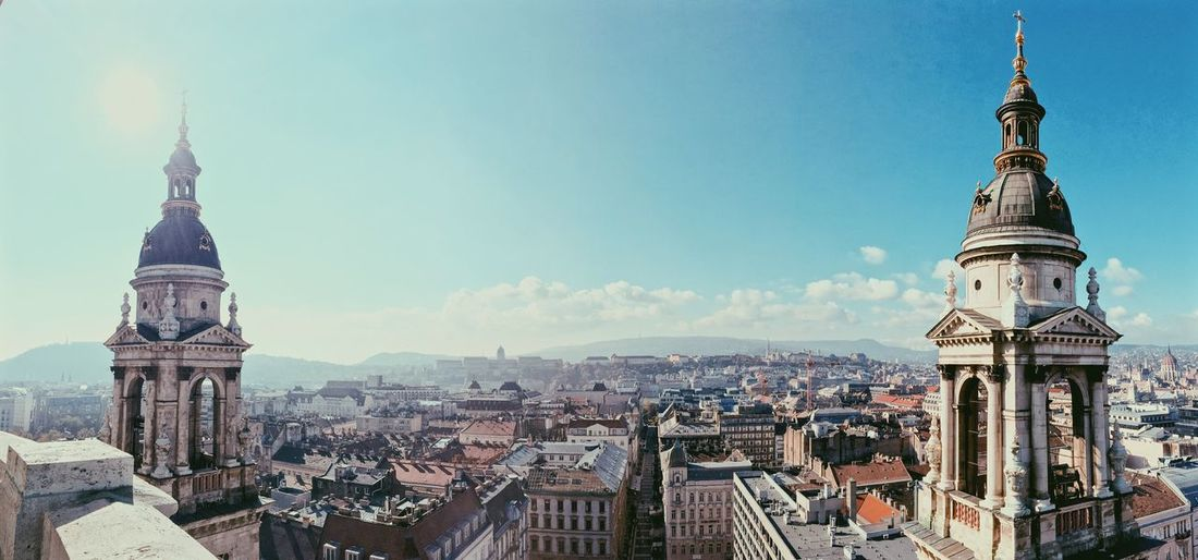 St stephen basilica and cityscape against sky