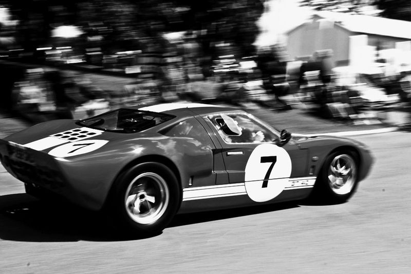 Ford GT40. Speed Blurred Motion Motion Transportation Racecar Outdoors Close-up Ford Car Gt40 Fast Cars Sports Car Black And White Collection  Black And White Blackandwhite Photography