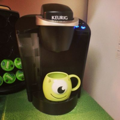 Trying out that Mike Wazowski mug for the first time. Monstersinc Coffee Keurig