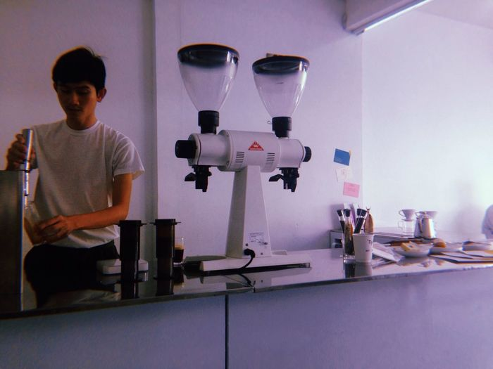 Barista Life Barista Coffee Cafe Indoors  One Person Science People