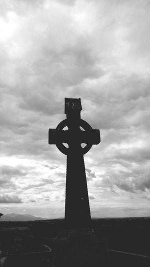 Ireland Blackandwhite Celtic Cross No People Creepy