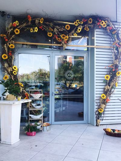 Flowershop Flowerarcade Autumn Leaves Autumn Collection Doors With Stories Sunflower Heartshaped