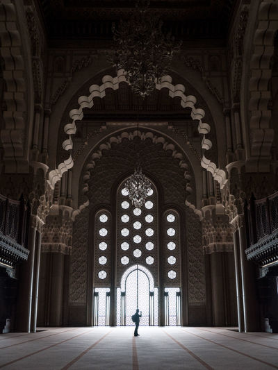 IIlluminated Casablanca EyeEmNewHere Hassan II Mosque Morocco Travel Travel Photography Arch Architectural Column Architecture Building Built Structure Full Length Indoors  Lifestyles Mosque One Person Ornate Place Of Worship Real People Travel Destinations The Traveler - 2018 EyeEm Awards The Architect - 2018 EyeEm Awards The Street Photographer - 2018 EyeEm Awards Capture Tomorrow
