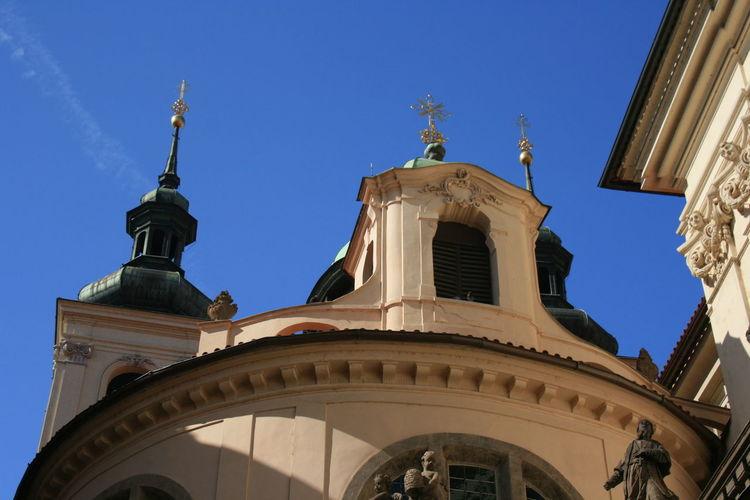 White church in