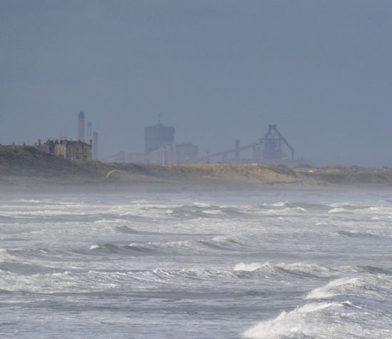 View from Saltburn to Redcar and Industrial Teeside Industrial Landscapes