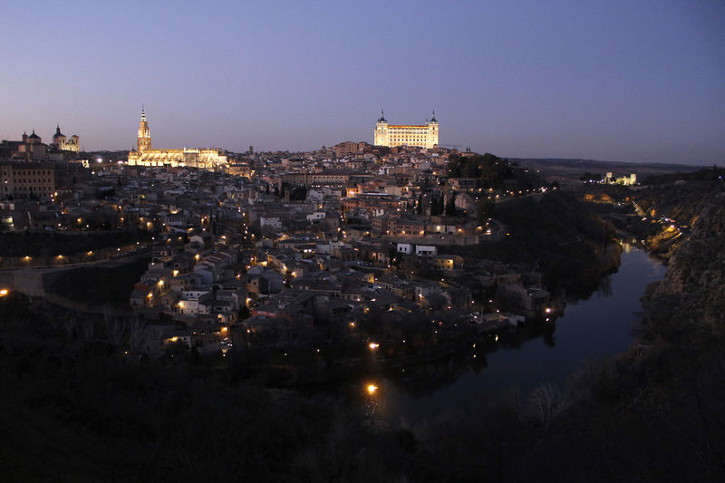 Toletum Building Exterior Architecture Built Structure City Illuminated Sky Cityscape Water Night Travel Destinations Travel High Angle View Dusk River The Past Toledo Toledo Spain Toletum Middle Ages Twighlight History Historic Tajo River Tajo River Spain Toledo Castilla