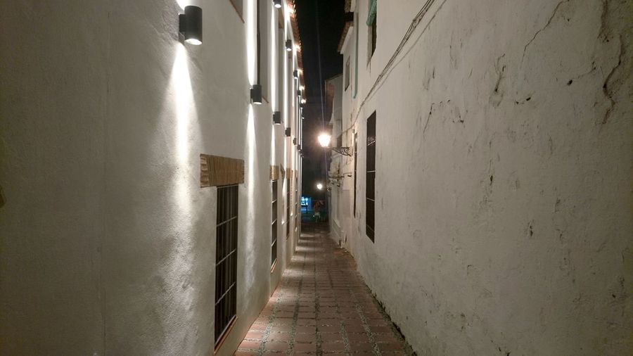 Streets of Marbella. Marbella SPAIN España Andalucía Andalusia White Corridor Narrow Side Street Ahead The Way Forward City Center Old Town City Walking Architecture Built Structure