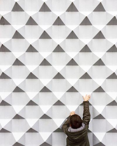 Ready to start Bestoftheday Outdoors One Person Pattern People Architecture Wall Minimalism Minimalobsession Minimal