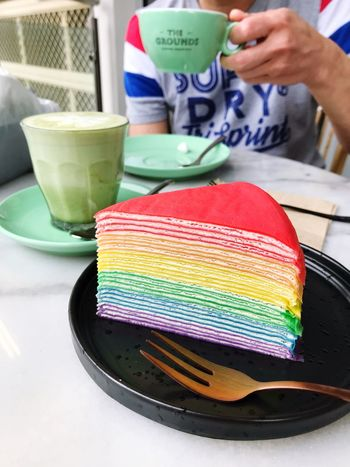 Rainbow🌈 Mille Crepe In My Mouf 😋