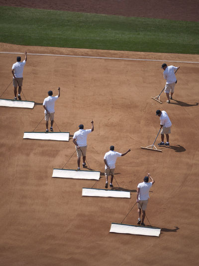 Leveling the field Baseball Baseballfield Casual Clothing Field Grooming Half Time Leisure Activity Leveling Leveling Board MAJOR LEAGUE Stadium Stadium Atmosphere Everything In Its Place