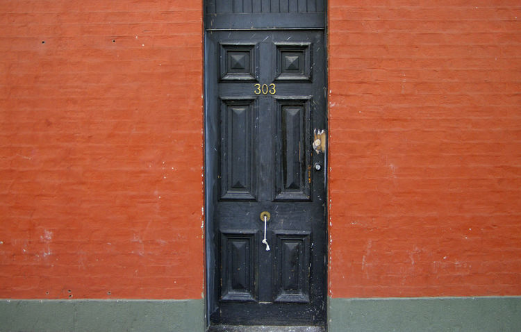 Australia Cityscapes Black Door Red Wall Old Door Residence House Brick No People Red Paint Building Exterior Architecture Terrace Inner City