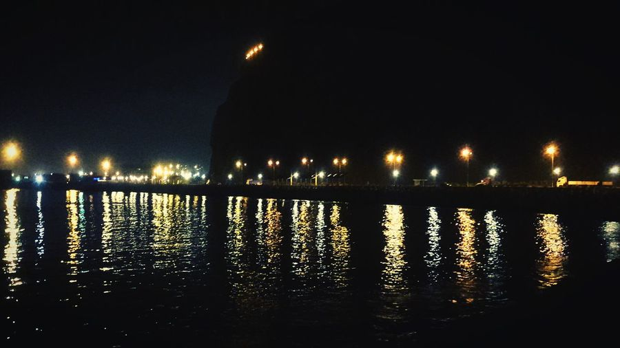 Nigthpicture Nigth  Relaxing First Eyeem Photo Sea Arica-chile The Great Outdoors With Adobe Romantic Place Ligths In The City City Lights Morro De Arica  Chile
