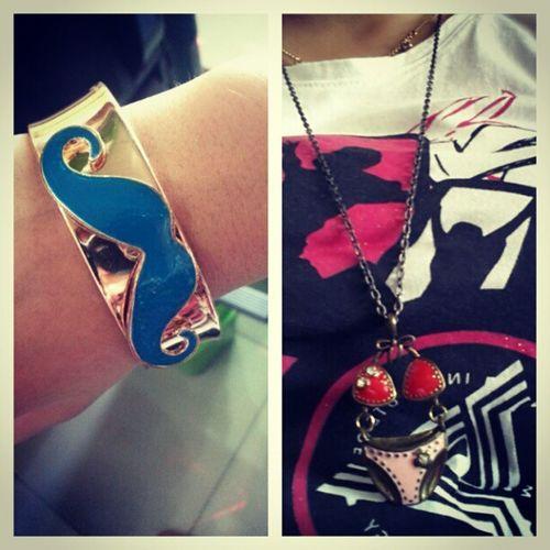 Accessoryoftheday Tinkercarmz Bracelet Moustache necklace bikini gift @carmeladalangin ♥