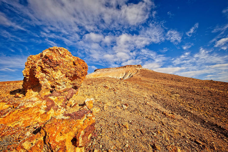 Colourful rock formations near coober pedy