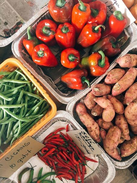 Assorted Philippines Vegetable Food And Drink Food Healthy Eating Freshness High Angle View Tomato Abundance Variation Large Group Of Objects Raw Food Market Choice Day No People Price Tag Indoors