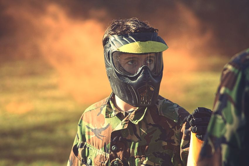 Mission accomplished. Paintball Smokegrenade Hereford Herefordshire Activity Army Camouflage Clothing Close-up Nature Countryside Outdoors