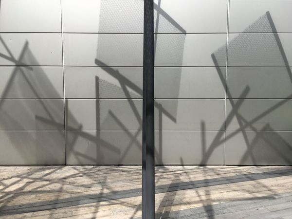Shadow Shadow Sunlight Wall - Building Feature Built Structure Day Pattern EyeEmNewHere No People Nature Architecture Outdoors Railing Design Metal Full Frame Flooring Staircase Footpath Focus On Shadow #urbanana: The Urban Playground Be Brave
