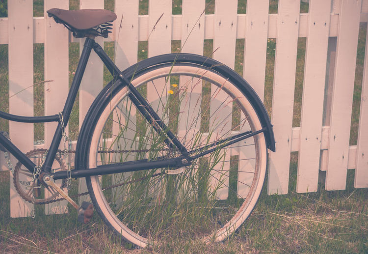 Alberta, Canada Overgrown Picket Fence The Week On EyeEm Back In The Day Bicycle Close-up Day Flowers Grass Grassy Land Vehicle Metal Mode Of Transport No People Outdoors Spoke Stationary Tire Transportation Vintage Vintage Photo Wheel Wildflowers