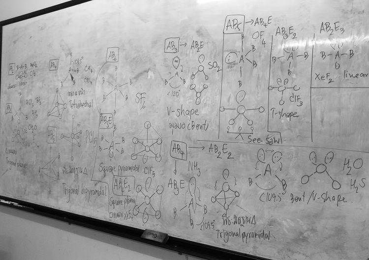Studying Black & White Monochrome Thailand Vsepr Chemistry Chemistry Class Chemistryyy ♡♡ Study Time Whiteboard
