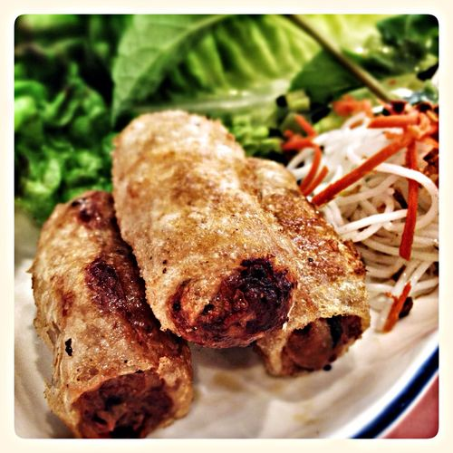 Imperial Rolls Eating Food Spring Rolls