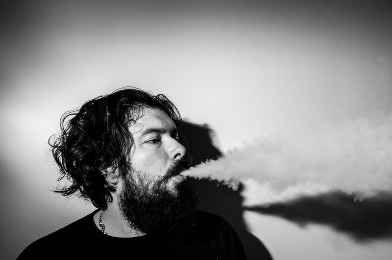 Sometimes you just have to exhale and start again. The Portraitist - 2016 EyeEm Awards Vaping Black And White Bnw Beard