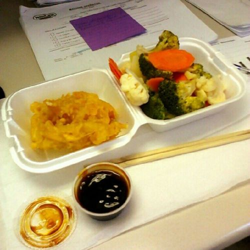 #lunchtime! I'm having #tempura #fish, #steamed #vegetables, with a little #teriyaki sauce on the side. #foodstagram #foodie #fitness #weightloss #lowcarb #lowfat #lowcalorie #dietfood #diet #healthyfood #healthy #eatingclean #eatclean #eatingright #eatri Broccoli Goodeats Lunch Foodstagram Lunchtime Teriyaki Fish Healthyfood Foodie Steamed  Healthy Eatclean Vegetables Dietfood Fitness Lowfat Diet Lowcalorie Weightloss Eatright Tempura Nylonsnack Veggies Eatingright Cauliflower Eatingclean Lowcarb Caloriecounting Carrots Countingcalories
