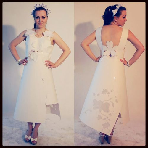 My model in dress by white paper :3 Fashion&love&beauty Model Photosession Wedding Dress By Ctrayfi
