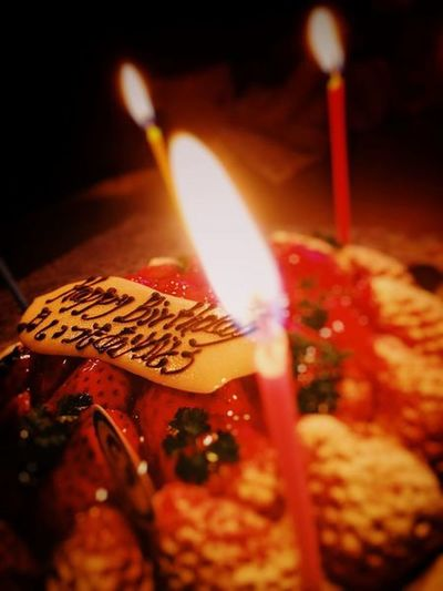 Cake Birthday Candle Flame Burning Close-up Food And Drink Celebration Indoors  Food Sweet Food Ready-to-eat