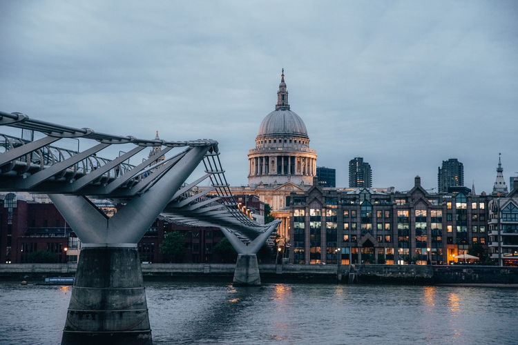 Architecture Built Structure Building Exterior Sky Water City Waterfront River Bridge Connection Bridge - Man Made Structure Travel Travel Destinations Nature Transportation Cloud - Sky No People Building Outdoors Cityscape St Paul's Cathedral